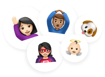 create or join teams - emoji